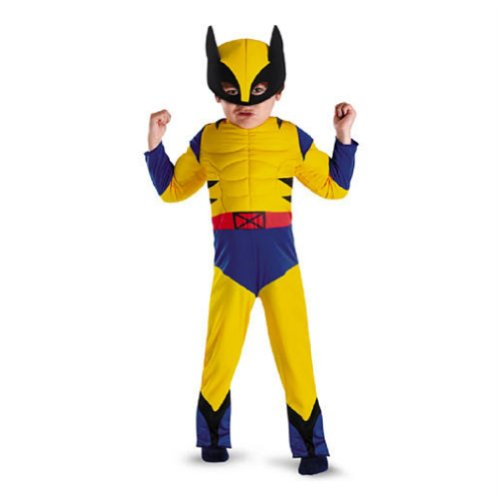 Marvel Comics Toddler & Boys Wolverine Muscle Costume with Mask