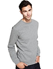 Slim Fit Crew Neck Sweat Top