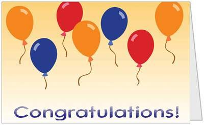 Congratulations 5x7 Greeting Card by QuickieCards