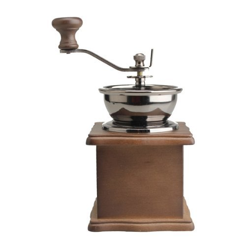 SODIAL(R) Mini Wooden Coffee Bean Spice Vintage Style hand grinder 4