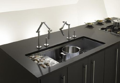 Kohler K-3761-NA Stages 45-Inch Stainless Steel Kitchen Sink