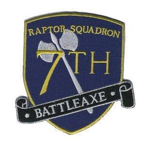 Battlestar Galactica 7th Raptor Battleaxe Logo Patch 10cm da cucire o Termoadesivo