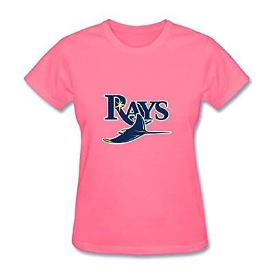 Women's MLB Tampa Bay Rays Logo Short Sleeve T Shirts