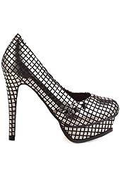 Iron Fist Heavy Metal Black Silver Platform Heels Shoes 5