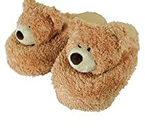 Fuzzy Slipper Gift Shop - Aroma Home Warm and Cozy Bear Heatable Slippers Fragranced with Cypress and Lemongrass Pure Essential Oils