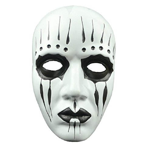 [VESNIBA Halloween Party Mask Cosplay Disgusting Face Zombies Terror Head Mask (white)] (Halloween Clown Masks)