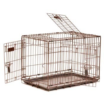 Precision Pet 30 By 19 By 22-Inch 3-Door Great Crate With Lock System And Quiet Links, Size 3000, Copper Hammertone