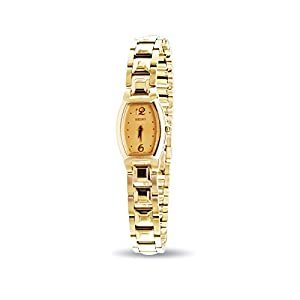 Women's Seiko SUJE42 Gold Tone Link Hardlex Crystal Watch
