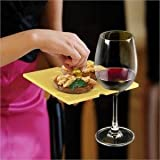 Wine Glass Holder Appetizer Cocktail Plate - Swiss Dish Set of 4