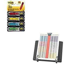 KITIVR59000MMM684SH - Value Kit - Innovera Book Stand Freestanding Desktop Copyholder (IVR59000) and Post-it Arrow Message 1/2amp;quot; Flags (MMM684SH)