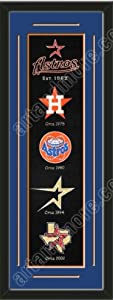 Heritage Banner Of Houston Astros With Team Color Double Matting-Framed Awesome &... by Art and More, Davenport, IA