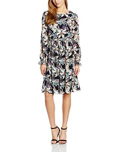 ISKA Kleid Wild Floral Print schwarz/mehrfarbig