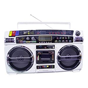 Lasonic i931x ghetto blaster with ipod iphone dock white mp3 - Lasonic ghetto blaster i931x ...