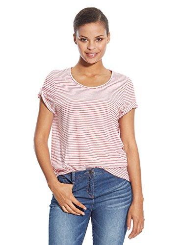 Balsamik - Maglietta a righe, maniche corte - donna - Size : 54/56 - Colour : Fondo bianco righe rosse