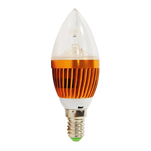High Power Warm White E14 9W Led Gold Candle Light Bulb Lights-10Pieces