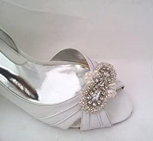 rhinestone pearls and beads applique shoe clips – orlie