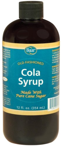 Caffeine Free, Non-carbonated Cola Syrup with Pure Cane Sugar (No High Fructose Corn Syrup), 12 Oz.