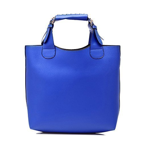 Generic 2 in 1 Womens Ladies New Elegant Vintage Tote Bag Celebrity Premium PU Leather Belted Hobo Shoulder Handbag Shopper Bag, with detachable straps shoulder bag, Adjustable Satchel Weave handle, with Inner Zipped Removable Pouch