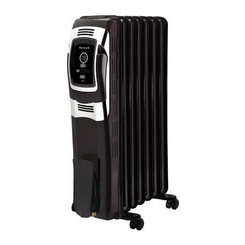 Kaz Inc Honeywell Hz-717 Electric Oil Filled Radiator Digital Heater - Black