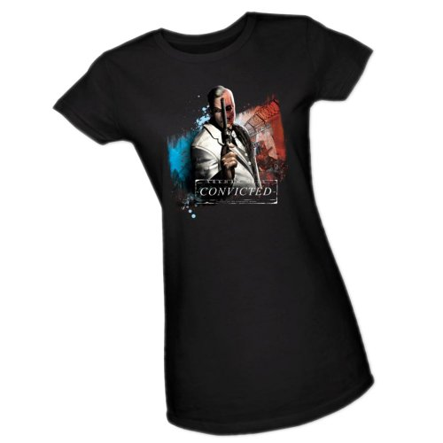 Two Face Convicted -- Batman Arkham City Crop Sleeve Fitted Juniors T-Shirt