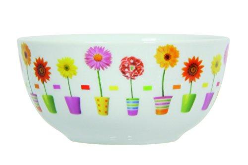 Novastyl 8010448 Floraly Lot de 6 Bols Porcelaine Multicolore 14,4 x 14,4 x 7 cm