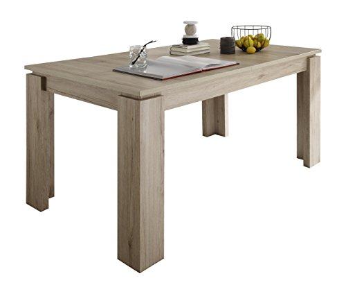 trendteam-ET16290-Esstisch-Wohnzimmertisch-Tisch-Eiche-San-Remo-Hell-Nachbildung-ausziehbar-LxBxH-160-200x90x77-cm