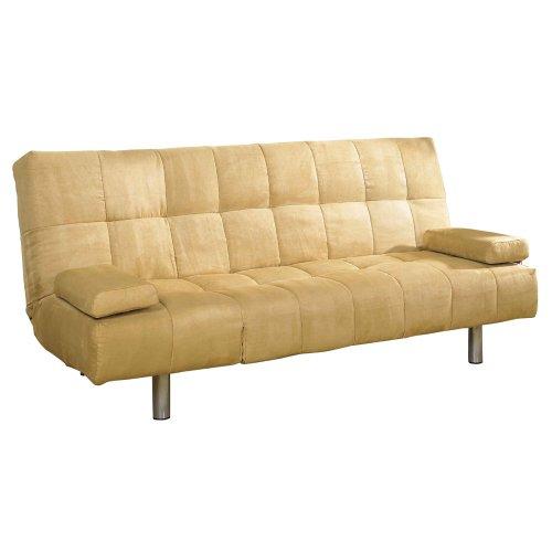 ORE International Microfiber Straight Leg Futon Sofa Bed
