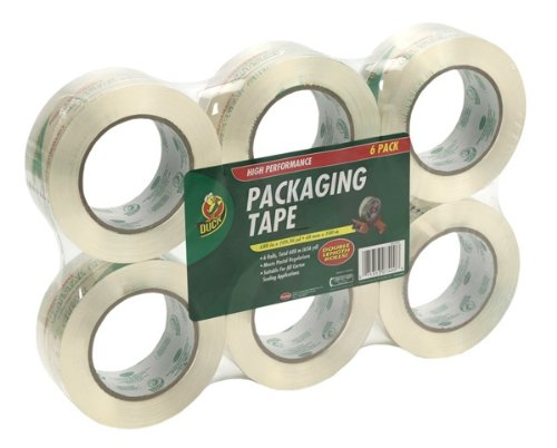 Duck Brand HD Clear High Performance Grade Packaging Tape, 1.88