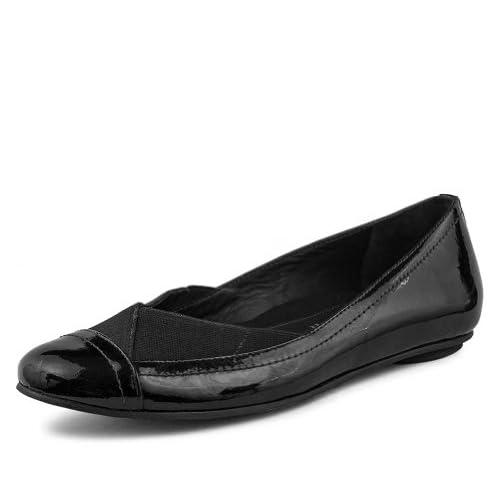 Dana Davis Women's Norah Leather Black Flat Shoe 6.5 : Amazon.com