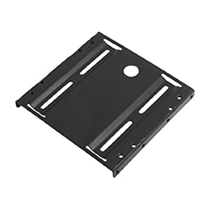 "Black Metal 2.5"" to 3.5"" ATX SSD Mounting Adapter Bracket Holder"