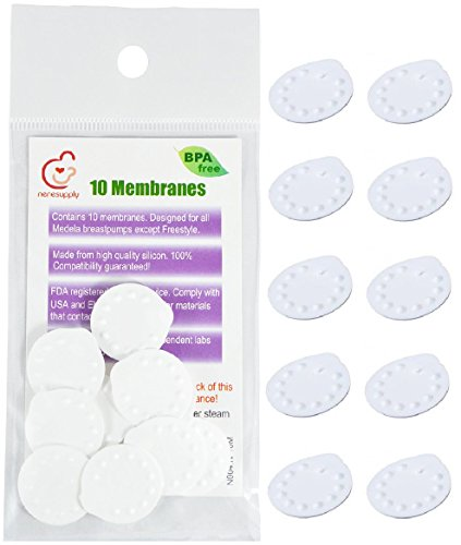 NeneSupply 10 Count Membranes for Medela Breastpumps (Pump In Style, Swing, Lactina, Symphony, Mini Electric, and Harmony). Designed to use with Medela Valves and NeneSupply Valves. Replaces Medela Membrane. Can Be Sanitized with Medela Micro-Steam Bag