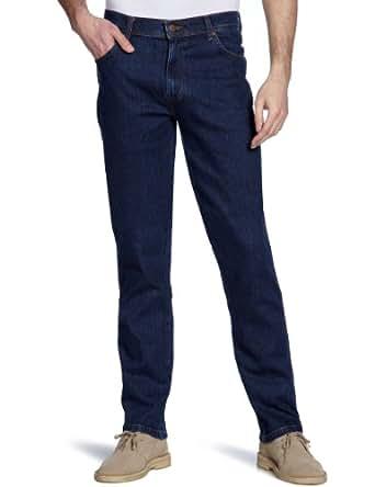 Wrangler Texas - Jeans - Droit - Homme - Bleu (Mid Stone) - W30/L32 (Taille fabricant: W30/L32)
