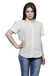 Vastrasutra Women's Polka Print Casual, Formal Shirt