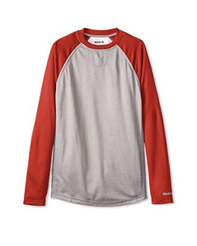 Reebok Men's Casual Baseball Long Sleeve Stock Pullover Top