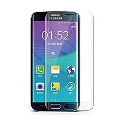 JUN-Q S6 Edge Screen Protector,3D Full Screen Premium 9H 0.36mm Tempered Glass Screen Protector Film for Samsung Galaxy S6 Edge (matte clear)