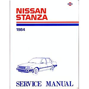 1986 Nissan Stanza Wagon Service Manual Model M10 Series (1985)