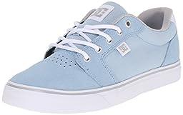 DC Women\'s Anvil Skate Shoe, Light Blue, 6.5 M US