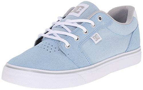 DC Women's Anvil Skate Shoe, Light Blue, 9.5 M US