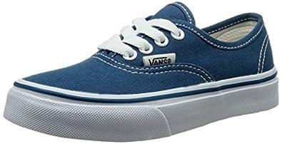 Vans Authentic, Unisex Kids' Low-Top Sneakers, Blue (Navy/True White), 10.5 Child UK (27-29 EU)