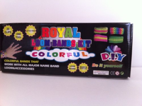 Royal Loom Bands Kit Colorful D.I.Y 500 PCS Rubber Bands, (bracelets)