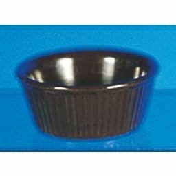 (Pack of 12) 4 Oz. Smooth Melamine Ramekin / Sauce Cup Multi-Color - Break-Resistance *NSF* (Chocolate)