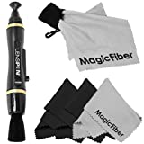 Professional Cleaning Kit for DSLR Cameras (Canon, Nikon, Pentax, Sony) - Includes: LensPen NPL-1 Camera Cleaning System + 3 Premium MagicFiber Microfiber Cleaning Cloth and Cleaning Cloth Keychain