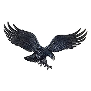Recycled Aluminum Eagle Wall Plaque w Brass Finish