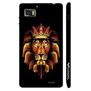 Lenovo K 860 3D Fire Lion designer mobile hard shell case by Enthopia