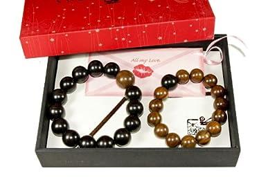 Tan's Accessory Gift Set Couple Beaded Bracelet Heart to Heart