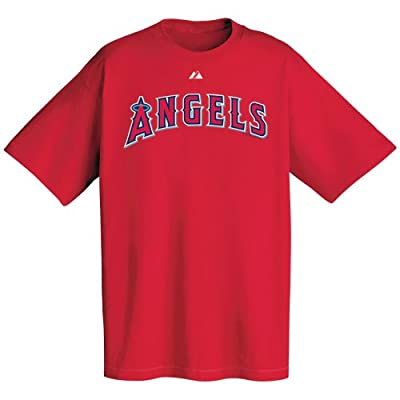 MLB Los Angeles Angels Wordmark T-Shirt, Red, Large