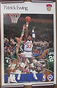 Patrick Ewing New York Knicks Signed Sports Illustrated Poster Steiner 121753