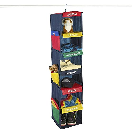DAILY ACTIVITY ORGANIZER - 6 SHELF HANGING CLOSET