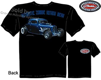 ... 34 Coupe Hot Rod T Shirt 1933 1934 Ford Tee Zombie 5 Window: Clothing
