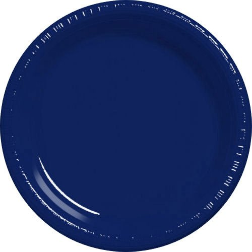 Blue Plates - Navy Blue Plastic Plates - Flag Blue Dessert Plates - 20 CT